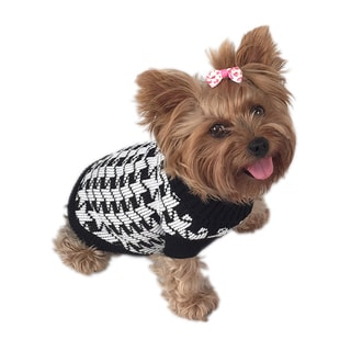 ANIMA Knit Houndstooth Small Pet Sweater