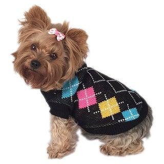 ANIMA Knit Happy Argyle Pet Sweater
