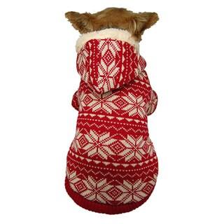 ANIMA Fleece Knit Snowflake Pet Jacket