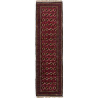 Ecarpetgallery Royal Baluch Red Wool Area Rug (2' x 9')
