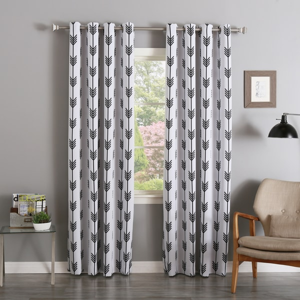 Aurora Home Arrow Room-Darkening Grommet Curtain Panel Pair - 17706942 ...