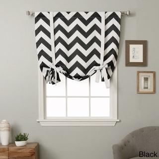 Aurora Home 63-inch Chevron Print Room Darkening Tie-up Window Shade