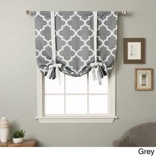 Aurora Home 63-inch Moroccan Print Room Darkening Tie-Up Window Shade