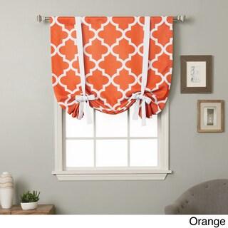 Aurora Home 63-inch Moroccan Print Room Darkening Tie-Up Window Shade - 42 x 63 (Option: Orange)