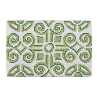 Williamsburg Boxwood Abbey Green Wool Hooked Rug