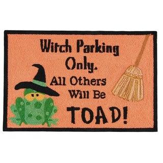 Halloween Toad Hooked Rug
