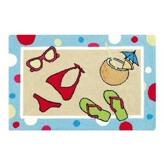 Beach Party Hooked Rug