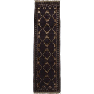 Ecarpetgallery Teimani Blue/ Brown Wool Area Rug (3' x 9')