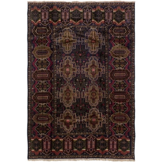 Ecarpetgallery Finest Rizbaft Blue Wool Area Rug (6' x 8')
