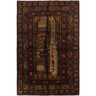 Ecarpetgallery Tora Bora Brown Wool Area Rug (6' x 9')