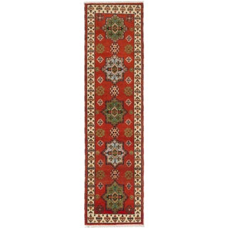 Ecarpetgallery Royal Kazak Brown Wool Area Rug (2' x 9')