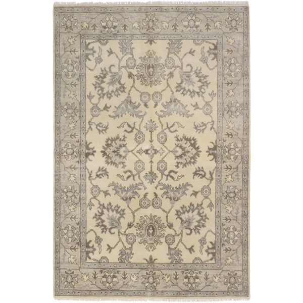 Ecarpetgallery Royal Ushak Yellow Wool Area Rug (6' x 9')