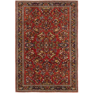 Ecarpetgallery Royal Sarough Brown Wool Area Rug (4' x 6')