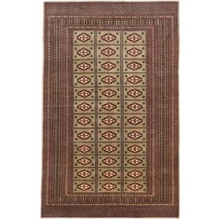 Ecarpetgallery Peshawar Bokhara Beige Wool Area Rug (5' x 8')