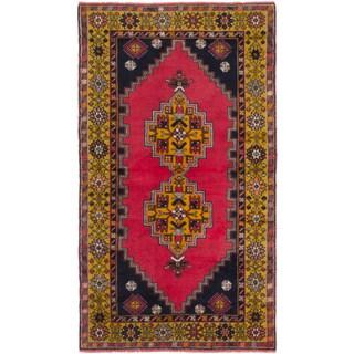 Ecarpetgallery Anadol Vintage Pink Wool Area Rug (3' x 6')