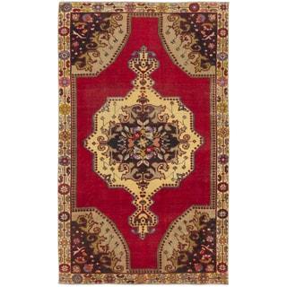 Ecarpetgallery Anadol Vintage Red Wool Area Rug (4' x 7')