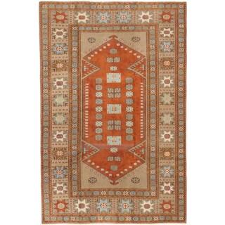 Ecarpetgallery Konya Anatolian Beige/ Brown Wool Area Rug (5' x 7')