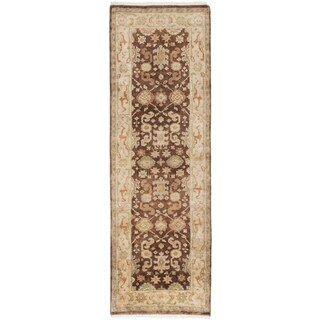 Ecarpetgallery Royal Ushak Brown Wool Area Rug (2' x 7')