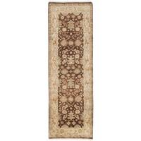 Ecarpetgallery Royal Ushak Brown Wool Area Rug (2' x 7')