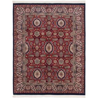 Ecarpetgallery Varanasi Red Wool Area Rug (7' x 9')