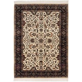 Ecarpetgallery Jamshidpour Beige Wool Area Rug (4' x 6')