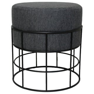 Modern Designs Round Metal Fabric Ottoman Stool