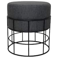 Modern Designs Indoor Outdoor Round Fabric Cushioned Stool Ottoman