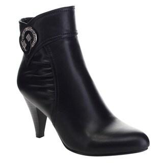 ITALINA BD6572 Women's Stylish Basic Mid Heel Ankle Booties