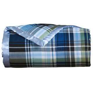 Luxury Microfiber Plaid Down Alternative Blanket