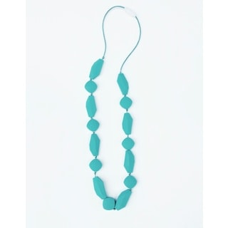 Pretty Little Stye Turquoise BPA Free Silicone Shapes Teething Necklace