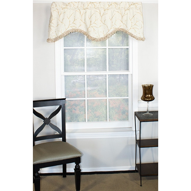 RLF HOME Spring Willow Cornice Valance (Off-White (Beige)...