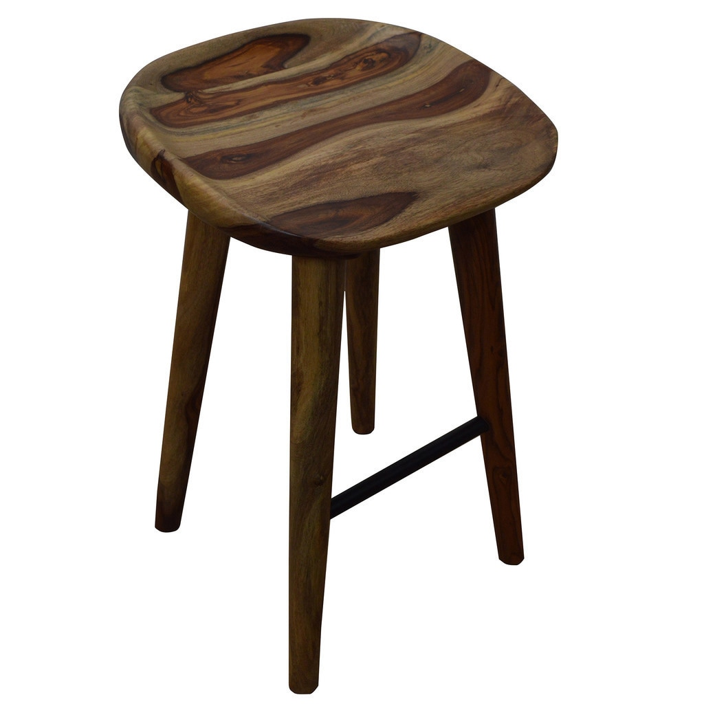 Shop Carbon Loft Paxton 26 Inch Solid Sheesham Wood Counter Stool