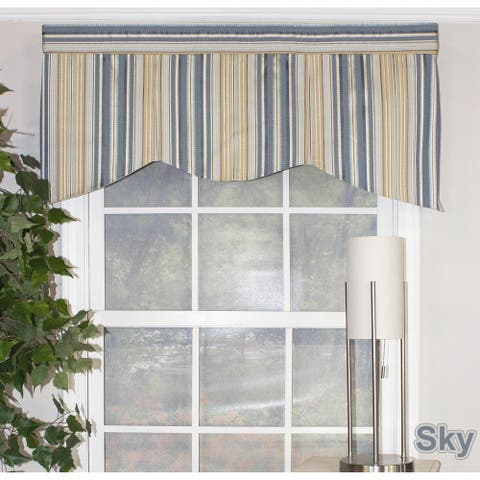 "RLF Home Ribbon Stripe Pleated 50"" Window Valance"