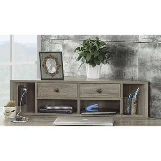 Signature Design By Ashley Trishley Light Brown Home Office Desk Hutch Free Shipping Today