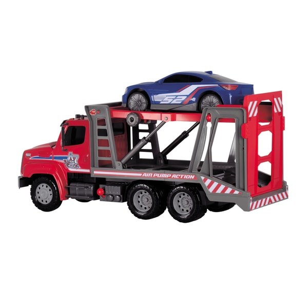 Dickie Toys 22-Inch Air Pump Car Transporter