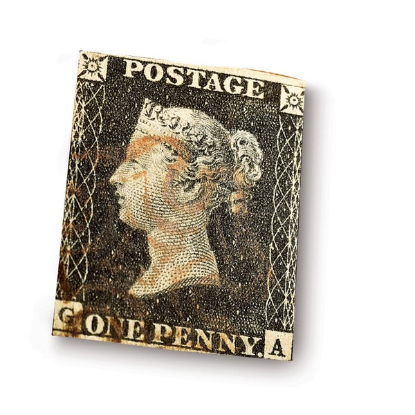 American Coin Treasures Penny Black Stamp