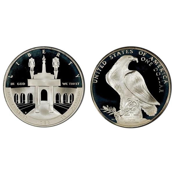American Coin Treasures Los Angeles Olympiad Silver Dollar Commemorative Coin