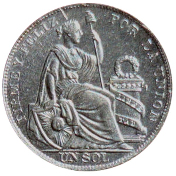 American Coin Treasures The Libertad Sol Peruvian Silver Coin