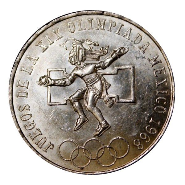 American Coin Treasures 25 Peso Silver Mexican Olympic Commemorative Coin