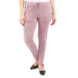 Hadari Women's Two Patch Pocket Tie-Waist Sweatpants