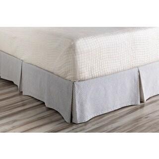 Brenda Dot Cotton/Flax Bedding Skirt
