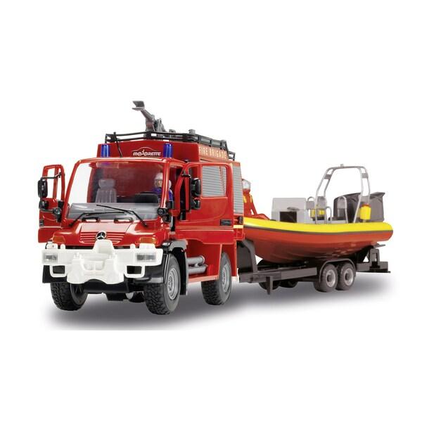 Dickie Toys Unimog SOS Fire Trailer Set