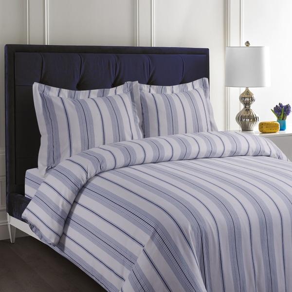 Stripe Printed 200 Gsm Flannel Oversize 3 Piece Duvet
