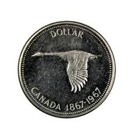 American Coin Treasures Canadian Goose Dollar Commemorative Silver Coin