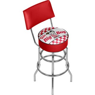Bobs Big Boy Padded Swivel Bar Stool with Back