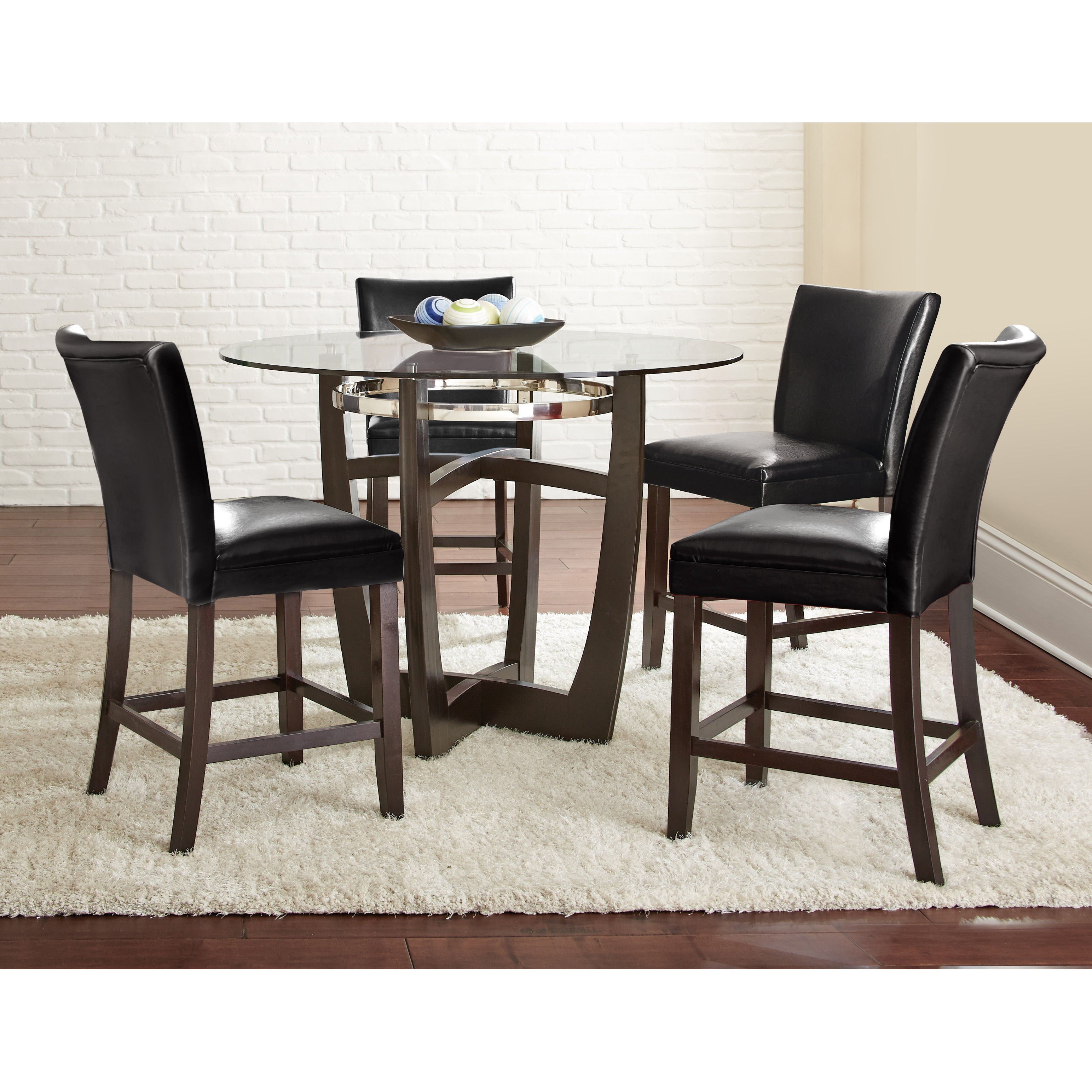 5pc Dining Set: Greyson Living Monoco Counter Height 5PC Dining Set