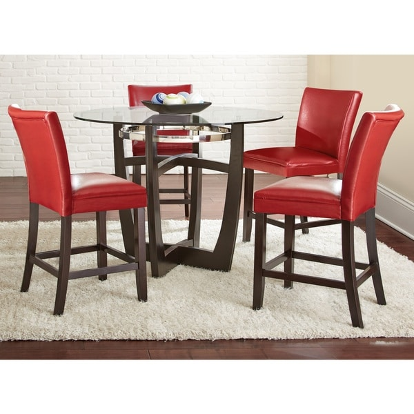 Red And Black Dining Room Sets: Shop Greyson Living Monoco Counter Height 5PC Dining Set