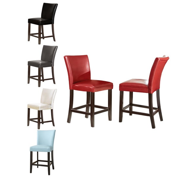 Greyson Living Monoco Leather Counter Chairs (Set of 2)
