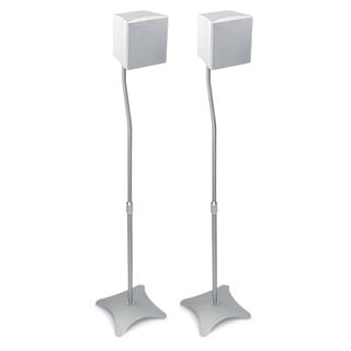 Mount-It! MI-1210 Adjustable Height Universal Speaker Stands for Surround Sound Satellite Speakers (Set of 2)