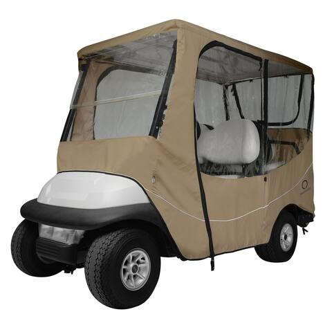 Classic Accessories Fairway Travel Golf Car Enclosure Short Roof, Khaki